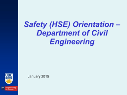 Safety - Civil Engineering, Department of