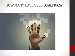Discovering the Unique Features of Qualtrics