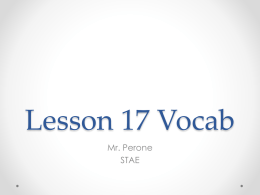 Lesson 17 Vocab - Mr. Perone`s Rockin` Math Site