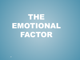 The Emotional Factor - Bannerman High School