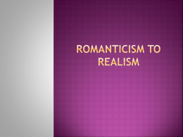 From Romanticism to Realism romanticism_to_realism