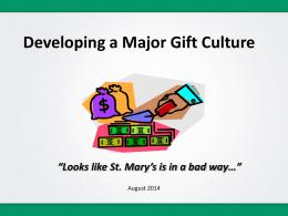 Major Gifts - Advancement Partners