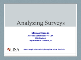 Analyzing Surveys - LISA