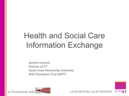 Health and Social Care Information Exchange