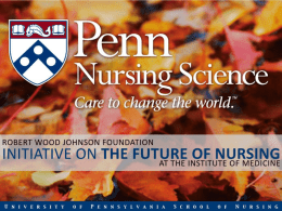 Overview of the RWJF Initiative on the Future of Nursing, at the IOM