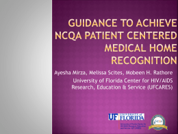 Guidance to Achieve NCQA Patient Centered