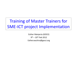 Lesson plans for effective ICT Integration in SME