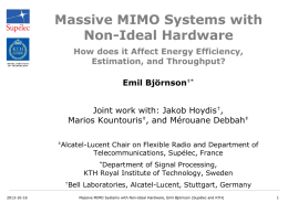 Massive MIMO Systems with Non-Ideal Hardware