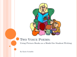 Two Voice Poems: - The San Marcos Writing Project Wiki