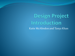 Design Project Introduction