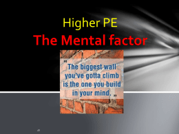 The Mental factor - Bannerman High School