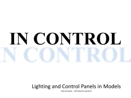 Lighting and Control Panels in Models
