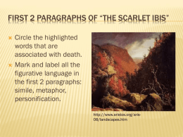 First 2 Paragraphs of *The Scarlet Ibis*