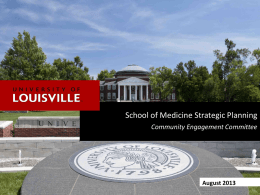 Community Engagement - University of Louisville
