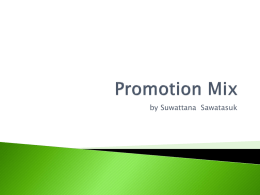 Promotion Mix - Home