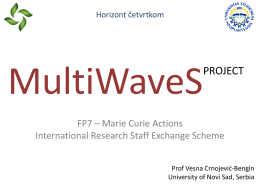 FP7 MultiWaveS International Research Staff Exchange