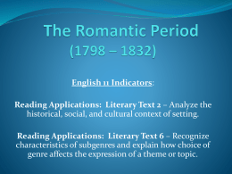 The Romantic Period - Crestwood Local Schools