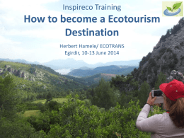 Inspireco Training Sustainable Destination