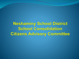 Citizens Committee - Neshaminy School District