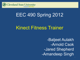 Kinect Fitness Trainer - The Academic Server at csuohio