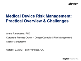 Presentation: Medical Device Risk Management