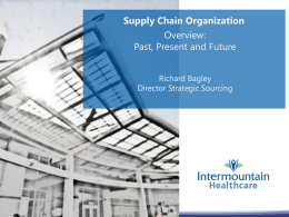 IHC Supply Chain Overview