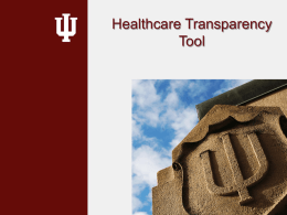 Healthcare Transparency Tool - Indiana University Bloomington
