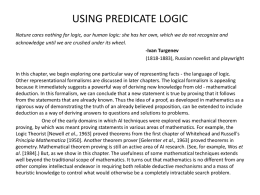 Rich Chapter 5 Predicate Logic
