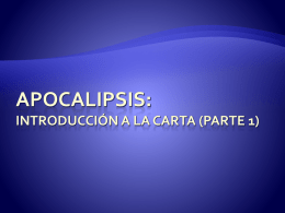 Apocalipsis: Introduccion