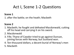 Act II, Scene iii Reading Questions