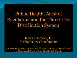 The Alcohol Distribution Three-Tier System