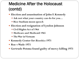 PowerPoint - Medicine After The Holocaust