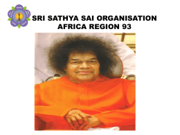 Zone 9A (Region 93 - Africa) - International Sri Sathya Sai