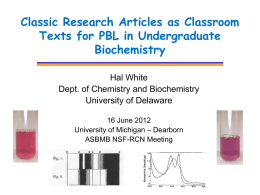 Classic Articles as PBL Problems in Introductory Courses