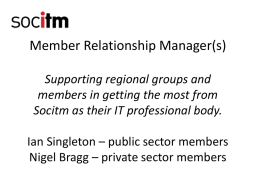 Member Relationship Manager(s)