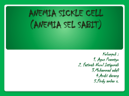 anemia sickle cell pp