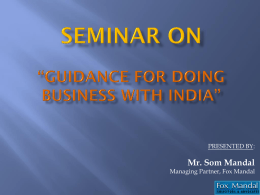Guidance for doing business with India