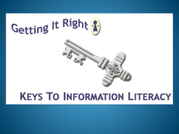 Information Literacy - Central Virginia Community College