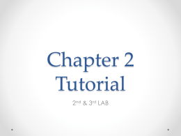 Chapter-2- Tutorial