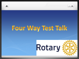 The 4-Way Test