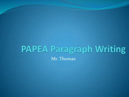 PAPEA Paragraph Writing