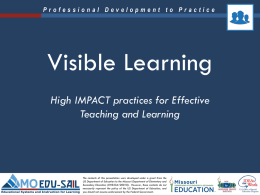 Visible Learning PowerPoint Presentation