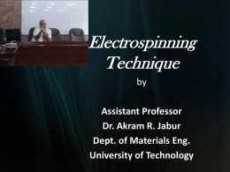 Electrospinning Technique