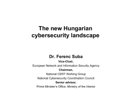 Hungarian National Cybersecurity Strategy