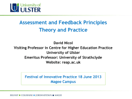 Theory and Practice - University of Ulster