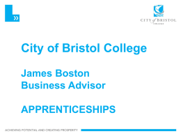 City of Bristol College Apprenticeships