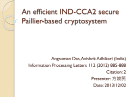 An efficient IND-CCA2 secure Paillier-based cryptosystem