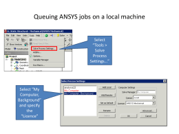 Queuing ANSYS jobs on a local machine