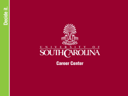political Science - University of South Carolina