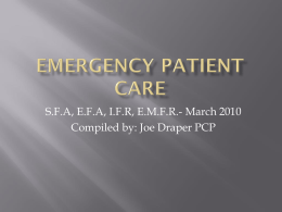 Emergency Patient Care